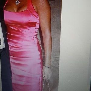 Hot pink midi dress